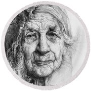 Eve. Series Forefathers Round Beach Towel