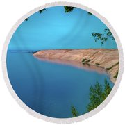 Eveing Light On Grand Sable Banks Round Beach Towel