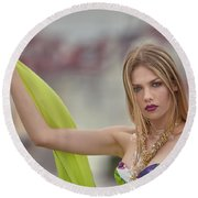 Evelyn Round Beach Towel