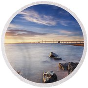 Round Beach Towel featuring the photograph Even The Mistakes Aren't Really Mistakes At All by Edward Kreis