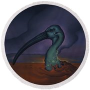 Evening And The Hiss Of Sadness Round Beach Towel by Andrew Batcheller