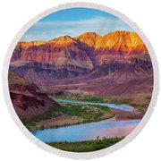 Evening At Cardenas Round Beach Towel