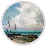 Evening Cloud Round Beach Towel