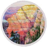 Evening Colors  Round Beach Towel