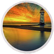 Round Beach Towel featuring the photograph Evening Delight by Adrian Evans