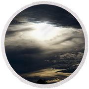Evening Eye Round Beach Towel