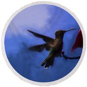 Evening Hummingbird Round Beach Towel