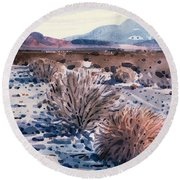 Evening In Death Valley Round Beach Towel by Donald Maier