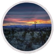Evening In Marathon Round Beach Towel