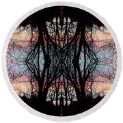 Evening Kaleidoscope Round Beach Towel