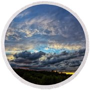 Evening Light Round Beach Towel by Billie-Jo Miller