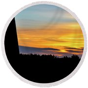 evening Mill  Round Beach Towel