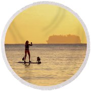 Evening Paddle Round Beach Towel