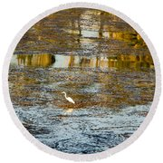 Evening Reflections In Carmel Round Beach Towel by Venetia Featherstone-Witty
