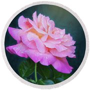 Evening Rose Round Beach Towel