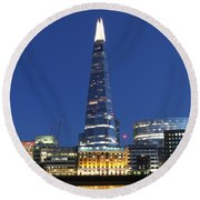 Evening Shard Round Beach Towel