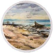 Evening Solitute Round Beach Towel