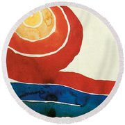 Evening Star IIi Round Beach Towel