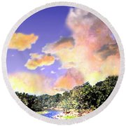 Evening Star Round Beach Towel