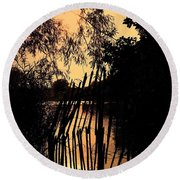 Round Beach Towel featuring the photograph Evening Time by Keith Elliott