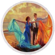 Evening Waltz Round Beach Towel