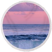 Evening Waves 2 - Jersey Shore Round Beach Towel