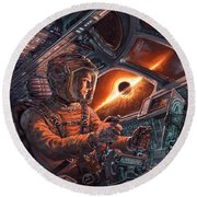 Event Horizon Round Beach Towel