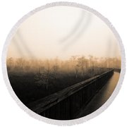 Everglades Boardwalk Round Beach Towel