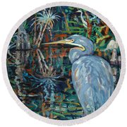 Everglades Round Beach Towel