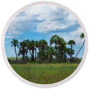 Everglades Landscape Round Beach Towel by Christopher L Thomley
