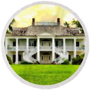 Evergreen Plantation Round Beach Towel