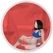 Round Beach Towel featuring the digital art Every Body Deserves Love by Bria Elyce