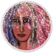 Round Beach Towel featuring the digital art Every Day Is A Special Day by Sladjana Lazarevic