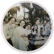 Round Beach Towel featuring the photograph Every Day Life In Nation In Making by Miroslava Jurcik