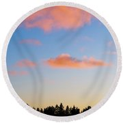 Every Ending Has A New Beginning Round Beach Towel