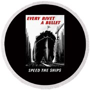 Every Rivet A Bullet - Speed The Ships Round Beach Towel