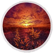 Round Beach Towel featuring the photograph Every Sound Returns To Silence by Phil Koch