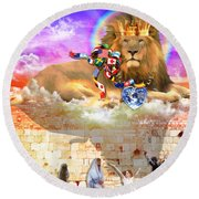 Round Beach Towel featuring the digital art Every Tribe Every Nation by Dolores Develde