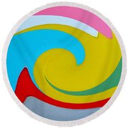 Everybody Has A Cousin In Miami Two Round Beach Towel by Dick Sauer