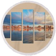 Example Panels Round Beach Towel