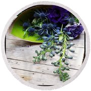 Round Beach Towel featuring the photograph Excellent Customer Service. #flowers by Mr Photojimsf