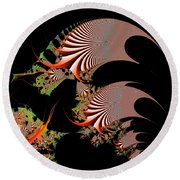 Round Beach Towel featuring the digital art Excetremen by Andrew Kotlinski