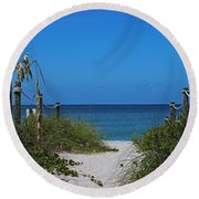 Round Beach Towel featuring the photograph Exclusively Captiva by Michiale Schneider
