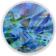 Excursions Of Vision Round Beach Towel