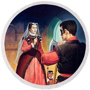 Execution Of Mary Queen Of Scots Round Beach Towel by English School