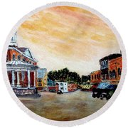 Exeter Nh Circa 1920 Round Beach Towel