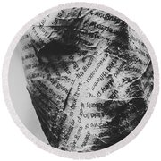 Exhumation Of Contextual Truth Round Beach Towel