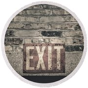 Exit Round Beach Towel