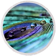 Exotic Drops Of Life Round Beach Towel