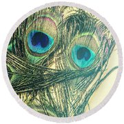Exotic Eye Of The Peacock Round Beach Towel